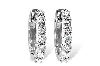 B055-75920: EARRINGS 1.00 CT TW