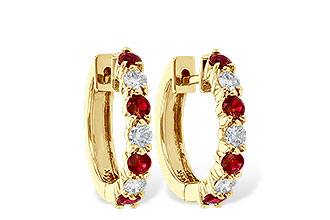 C055-75929: EARRINGS .64 RUBY 1.05 TGW