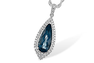 C243-94102: NECK 2.40 LONDON BLUE TOPAZ 2.65 TGW