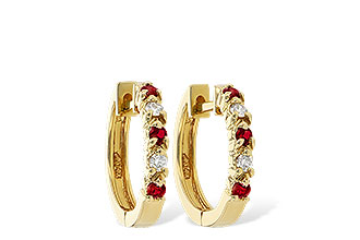 E055-75929: EARRINGS .17 RUBY .26 TGW