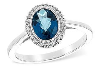 E243-92293: LDS RG 1.27 LONDON BLUE TOPAZ 1.42 TGW