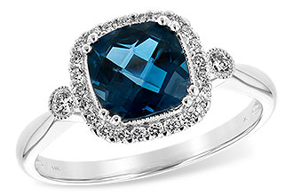 G243-92293: LDS RG 1.62 LONDON BLUE TOPAZ 1.78 TGW