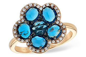 K242-13256: LDS RG 1.82 ROSE CUT BLUE TOPAZ 1.97 TGW