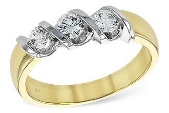 L147-61374: LDS WED RING .20 BR .50 TW