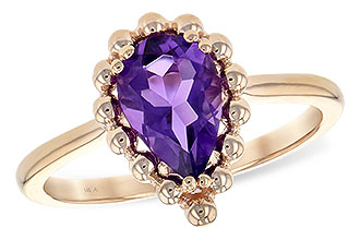 L243-95065: LDS RING 1.06 CT AMETHYST